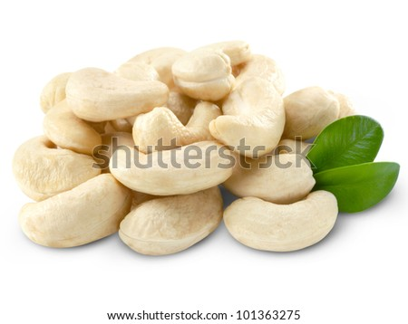 Cashew nuts isolated + Clipping Path