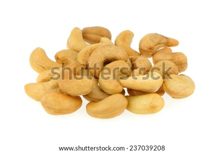 Cashew nuts isolated on white background #237039208