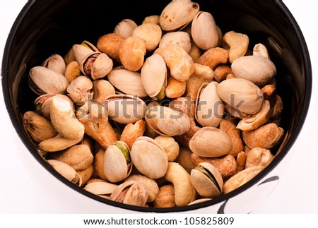 cashews and pistachio mix