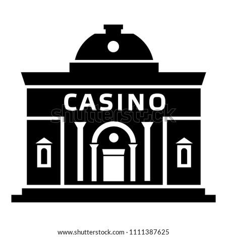 Casino building icon. Simple illustration of casino building icon for web