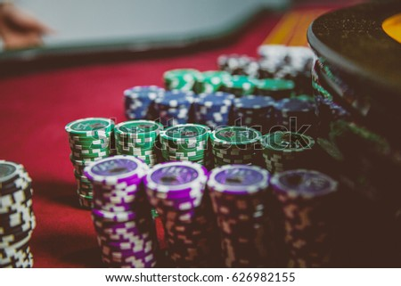 casino chips are colorful game...