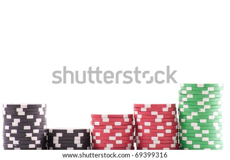 Casino Chips Background with Custom Space