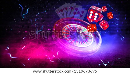 Casino elements background, Roulette wheel and Dice with Awesome background isolation, 3D illustration, 3D rendering, 3D illustration design