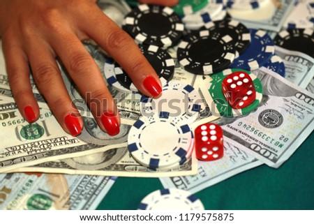 casino, gambling, dice, craps and entertainment concept