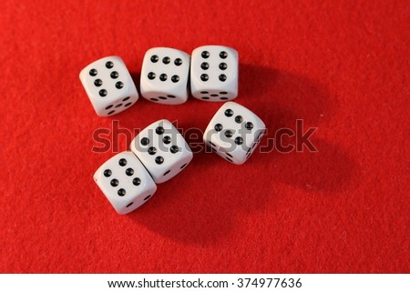 Casino game dices with red background #374977636