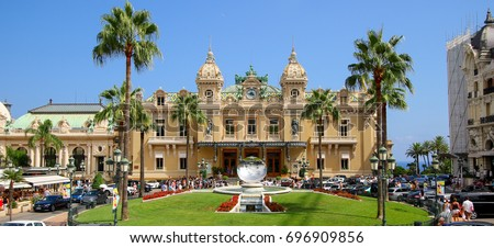 Casino of Monte-Carlo in Monaco on the French Riviera #696909856
