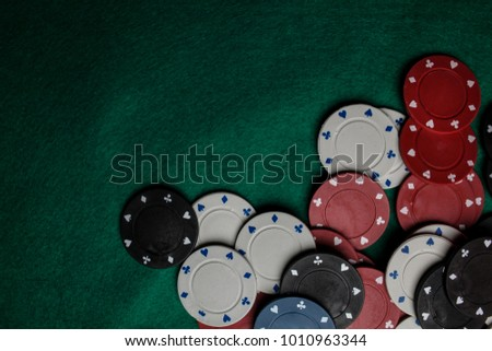 casino   poker chips colorful...