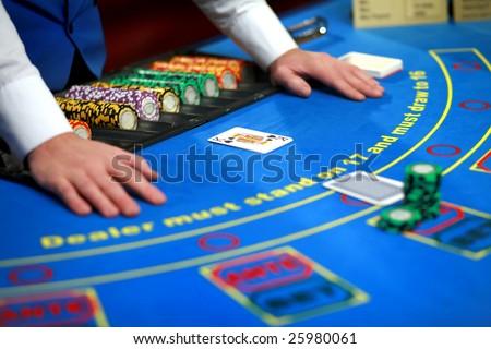 Casino poker table