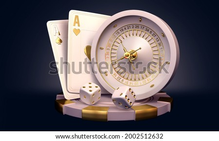 casino rouleete cards crabs  illustration 3d render 3d rendering