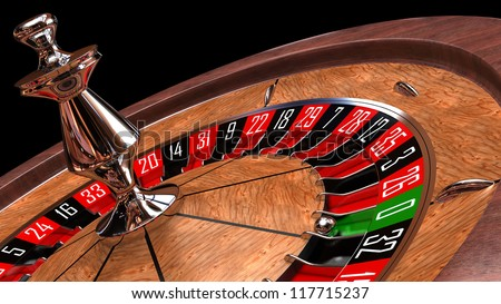 Casino roulette closeup - 3d render