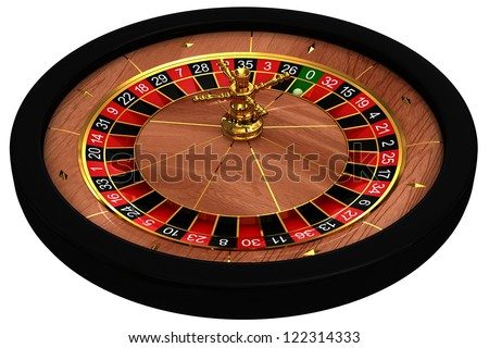 Casino Roulette. 3d rendered image on white background