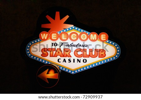 Casino sign lighted up