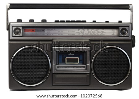 Cassette deck with radio and recorder