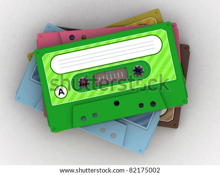cassette tape isolated on white background