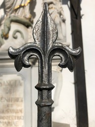 cast iron fence with beautiful spikes