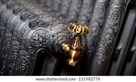 cast iron radiator close up