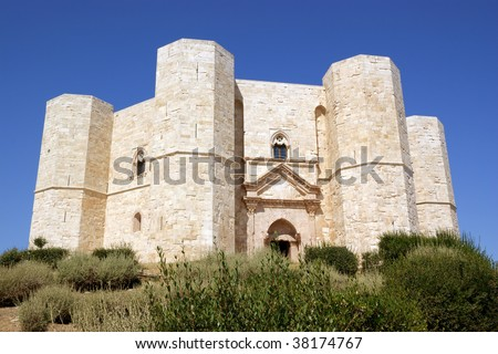 Castel del Monte is located on a small hill near Adria, in the province of Bari (Apulia, Italy). It was built in the 13th century, during the reign of the Holy Roman Emperor Frederick II.