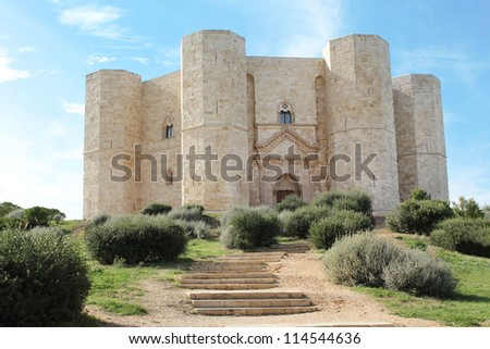 Castel del Monte - UNESCO World Heritage Site - citadel and castle in Andria, Apulia region, in the south of Italy.
