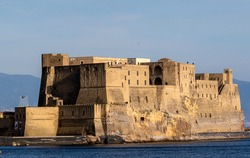 Castel dell'Ovo, Naples, Campania, Castel dell'Ovo ,Egg Castle is a seaside castle located on the former island of Megaride, now a peninsula, on the Gulf of Naples in Italy