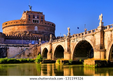 Castel Sant'Angelo and Bridge of Angles, Rome, Italy