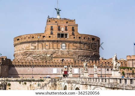 Castel Sant Angelo in a summer day in Rome, Italy #362520056