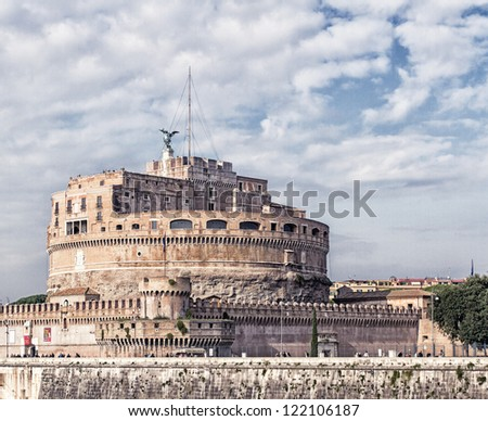 Castel Sant'angelo in rome, vatican italy, HDR