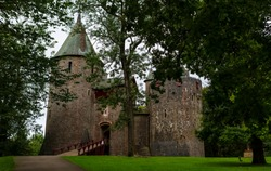 Castell Coch in South Wales. Restored in 1870 it was built on the foundations of a 13th Century Castle