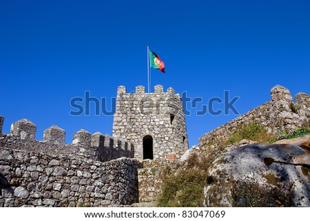 Castelo dos Mouros in the village of Sintra, Portugal