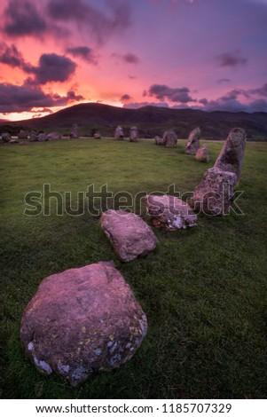 Castelrigg Stone Circle, Bronze Age Monument near Keswick in the English Lake District