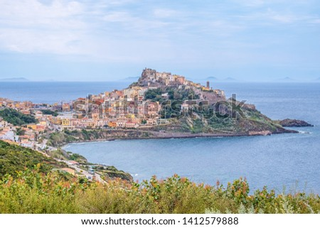 Castelsardo, a gorgeous medieval village on a promontory in the gulf of Asinara dominated by a castle, Province of Sassari, Sardinia, Italy