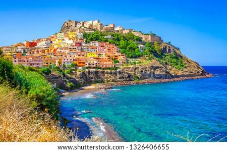 Castelsardo town and comune in Sardinia, Province of Sassari, Italy.  Stockfoto ©
