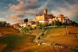 Castiglione Faletto, village in Barolo wine region, Langhe, Piedmont, Italy