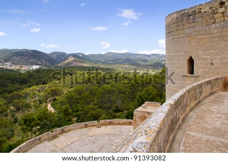 Castillo de Bellver castle in Palma de Mallorca Balearic island of Spain