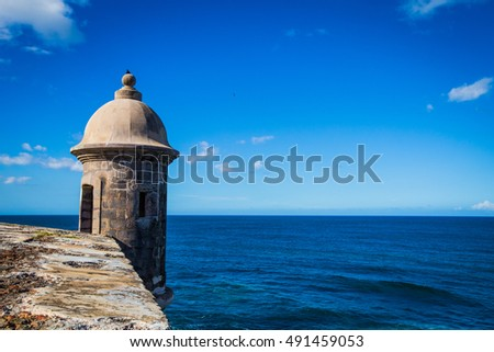 Castillo San Felipe del Morro. The fortification in San Juan.