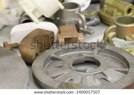 Castings from alloyed and stainless steels. Castings from bronze of aluminum, brass, copper. Casting metals. Foundry. Manufactory.