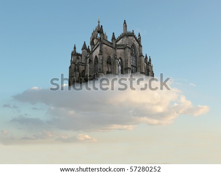 Castle air - stock photo
