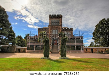 castle and gardens on dunedin otago peninsula