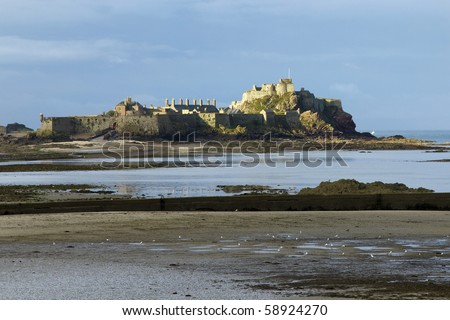Castle at low tide