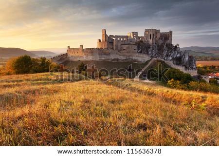 Castle Beckov in Slovakia - stock photo