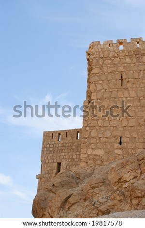 castle, blue sky in ancient Palmyra, Syria