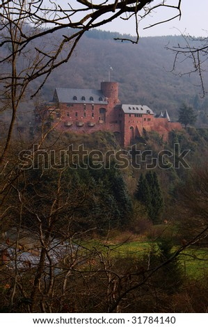 "Castle ""Burg Hengebach"" in Eifel mountains, Germany"