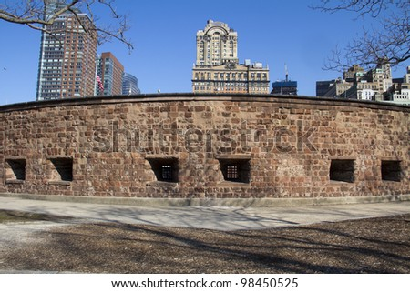 Castle Clinton National Monument in Battery Park New York City