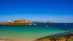 Castle Cornet and Havelet Bay Guernsey