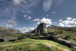 Castle Dolbadarn Keep built for Llywelyn the Great Llanberis Snowdonia Wales
