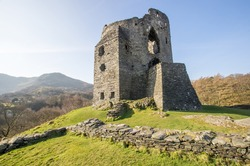 Castle Dolbadarn ruins, Llanberis, Snowdonia National Park in North Wales, United Kingdom