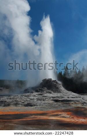 Castle geyser - stock photo