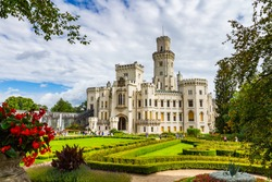 Castle Hluboka nad Vltavou is one of the most beautiful castles of the Czech Republic.