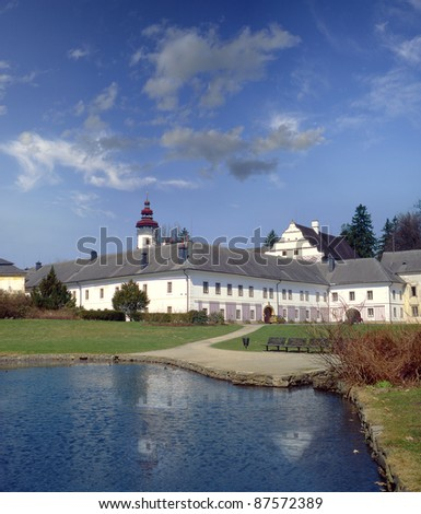Castle in Velke Losiny, Jeseniky Mountains, Czech Republic
