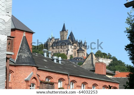 Castle in Wernigerrode in Germany
