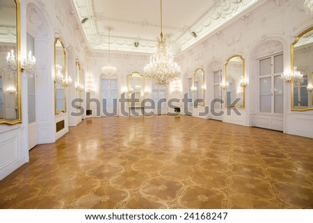 castle interior, mirror room